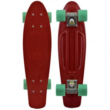 "Penny Skateboards - Organic Penny 22"" Maroon/Grey/Teal - Complete"