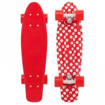 """Penny Skateboards - Holiday Polka Penny 22"""" Skateboard Complete - Red/White/Red"""