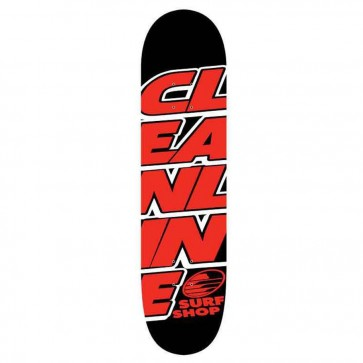 Cleanline Stacked Skateboard Deck - Red