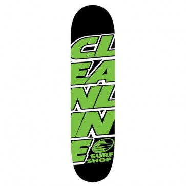 Cleanline Stacked Skateboard Deck - Lime
