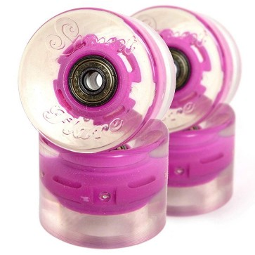 Sunset Skateboards - 59mm Flare Cruiser LED Wheels - Pink