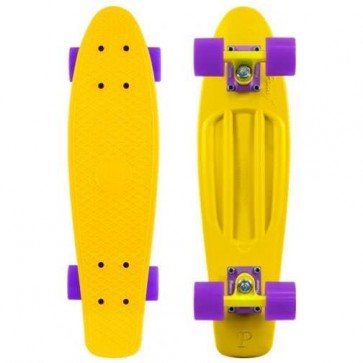 "Penny Skateboards - Original 22"" Yellow Yellow Purple Complete Skateboard"