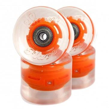 Sunset Skateboards - 59mm Flare Cruiser LED Wheels - Orange