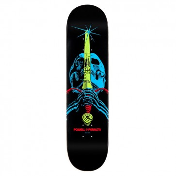 Powell Peralta Blacklight Skull & Sword Skateboard Deck - 7.75""