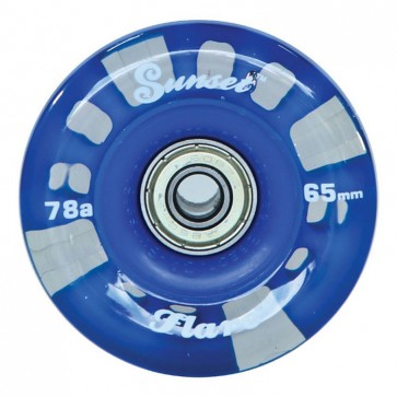 Sunset Skateboards - 65mm Flare Longboard LED Wheels - Blue
