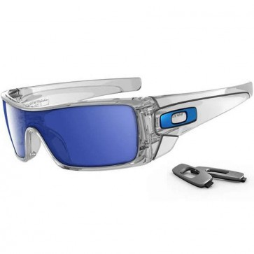 Oakley Batwolf Sunglasses - Polished Clear/Ice Iridium