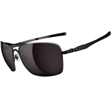 Oakley Plaintiff Squared Sunglasses - Polished Black/Warm Grey