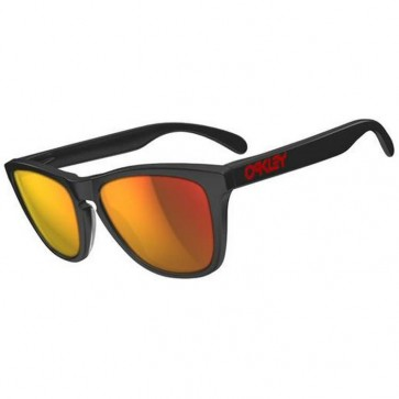 Oakley Frogskins LX Sunglasses - Matte Black/Ruby Iridium