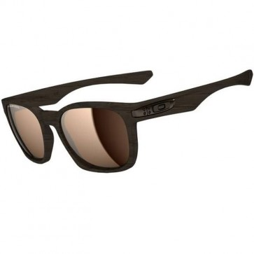 Oakley Garage Rock Polarized Sunglasses - Woodgrain/Tungsten Iridium