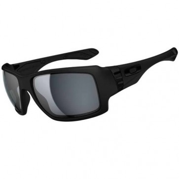 Oakley Big Taco Polarized Sunglasses - Matte Black/Grey
