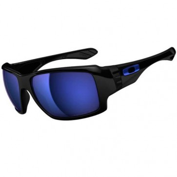 Oakley Big Taco Polarized Sunglasses - Polished Black/Ice Iridium