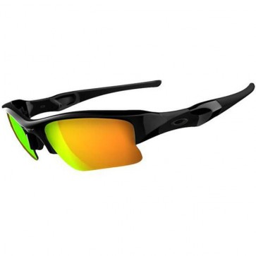 Oakley Flak Jacket Sunglasses - Polished Black/Fire Iridium