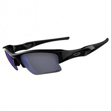 Oakley Flak Jacket XLJ Angling Sunglasses - Polished Black/Deep Blue Polarized