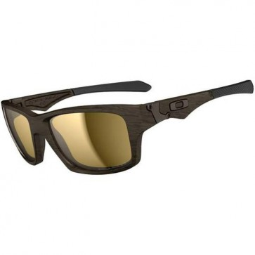 Oakley Jupiter Squared Polarized Sunglasses - Woodgrain/Tungsten Iridium