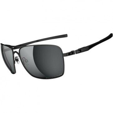 Oakley Plaintiff Squared Polarized Sunglasses - Lead/Black Iridium