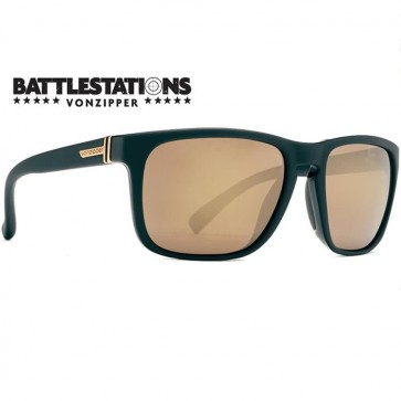 Von Zipper Lomax Battlestations Sunglasses - Black/Gold Chrome