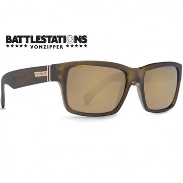 Von Zipper Fulton Battlestations Sunglasses - Army/Gold Glo