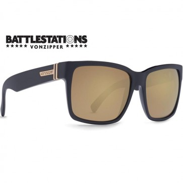 Von Zipper Elmore Battlestations Sunglasses - Black/Glo Gold