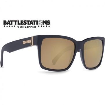 Von Zipper Elmore Battlestations Sunglasses - Black/Glo Gold
