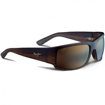 Maui Jim World Cup Sunglasses - Chocolate Stripe Fade/HCL Bronze