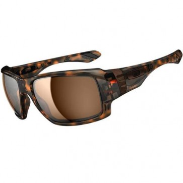 Oakley Big Taco Polarized Sunglasses - Brown Tortoise/Bronze