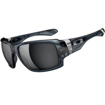 Oakley Big Taco Sunglasses - Crystal Black/Black Iridium