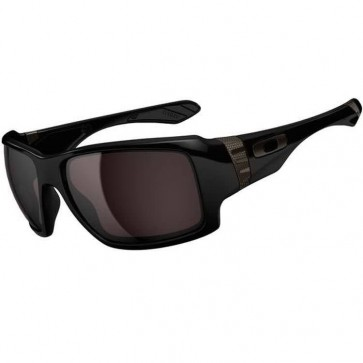 Oakley Big Taco Sunglasses - Polished Black/Warm Grey