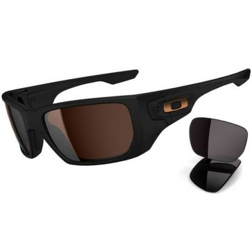 Oakley Style Switch Sunglasses - Matte Black/Dark Bronze + Warm Grey