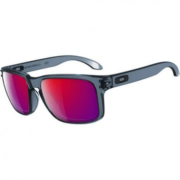 Oakley Holbrook Sunglasses - Crystal Black/Positive Red Iridium