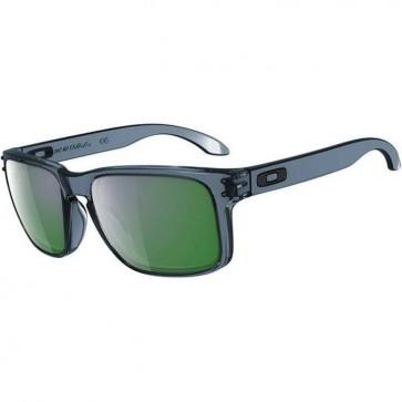 Oakley Holbrook Sunglasses - Crystal Black/Emerald Iridium