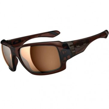 Oakley Big Taco Sunglasses - Polished Rootbeer/Tungsten Iridium