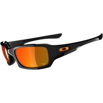 Oakley Fives Squared Moto GP Sunglasses - Polished Black/Fire Iridium