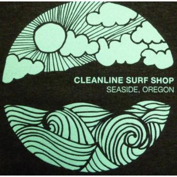 Cleanline Seaside Happy Day Zip Hoodie - Charcoal