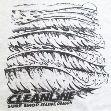 Cleanline Wave Logo T-Shirt - Grey