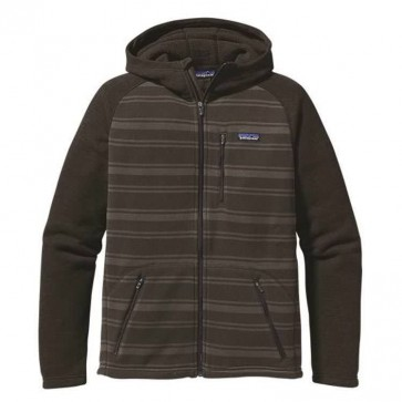 Patagonia Better Sweater Zip Hoodie - Suede Brown Stripes