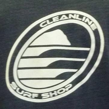 Cleanline Corp Logo/Big Rock Zip Hoodie - Navy/White