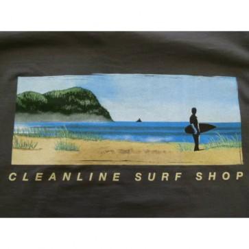 Cleanline Mural Zip Hoodie - Charcoal