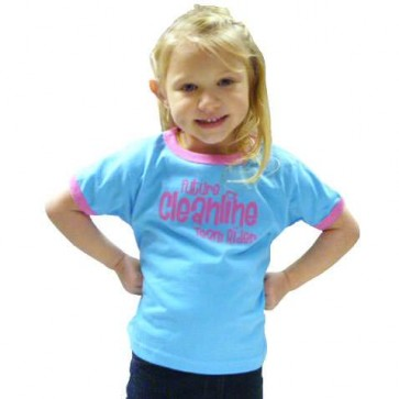 Cleanline Toddler Future Team Rider T-Shirt - Lite Blue/Pink