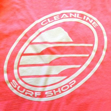 Cleanline Women's Corp Logo/Big Rock Top - Neon Pink