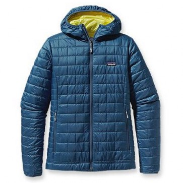 Patagonia Women's Nano Puff Hoodie Jacket - Glass Blue