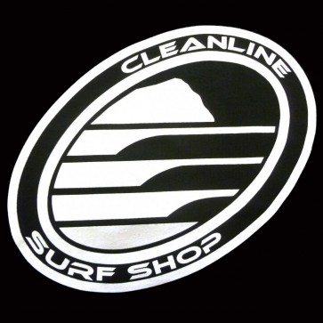 Cleanline Corp Logo/Big Rock T-Shirt - Black/White