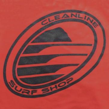 Cleanline Corp Logo/Big Rock T-Shirt - Cranberry/Black