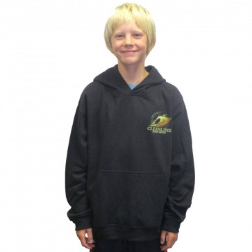 Cleanline Youth Graphite Sunset Hoodie - Black