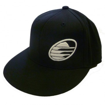 Cleanline Embroidered Rock Flat-Bill Hat - Black/White