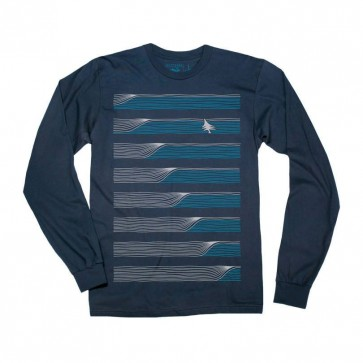 HippyTree Peel Long Sleeve Shirt - Navy