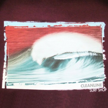 Cleanline Hollow Days Zip Hoodie - Maroon