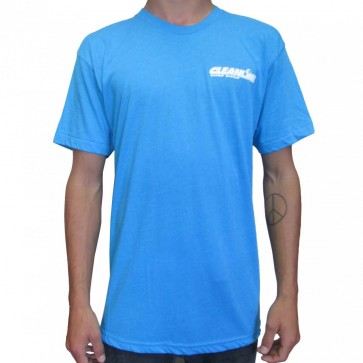Cleanline Corp Logo/Big Rock T-Shirt - Neon Blue