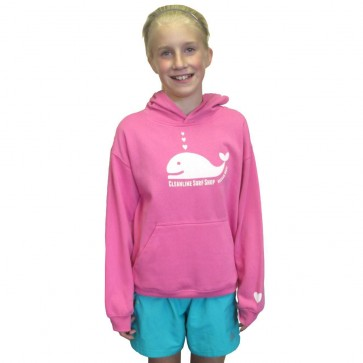 Cleanline Youth Whale Tail Hoodie - Raspberry