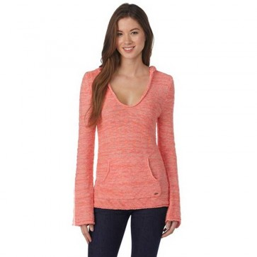 Roxy Women's White Caps 3 Sweater - Sugar Coral