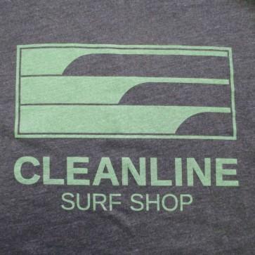 Cleanline Lines Raglan Zip Hoodie - Charcoal/Olive